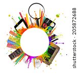 concept of school tools... | Shutterstock . vector #205872688