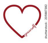 love yourself | Shutterstock .eps vector #205887382