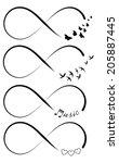 infinity symbols   Shutterstock .eps vector #205887445