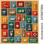 set of icons on a theme of... | Shutterstock .eps vector #205887886