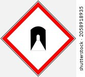 tunnel vector road icon on... | Shutterstock .eps vector #2058918935
