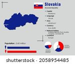 slovakia infographic vector... | Shutterstock .eps vector #2058954485
