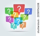questions community. question... | Shutterstock .eps vector #2058956108