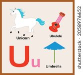 objects starting from letter u... | Shutterstock .eps vector #2058976652