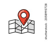 parcel tracking  gps delivery ... | Shutterstock .eps vector #2058993728