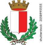 vector coat of arms... | Shutterstock .eps vector #2058995555