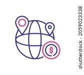 global business vector 2 colour ... | Shutterstock .eps vector #2059023338