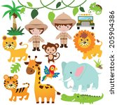 safari vector illustration | Shutterstock .eps vector #205904386