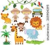 safari vector illustration | Shutterstock .eps vector #205904395