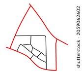 road network image map design... | Shutterstock .eps vector #2059062602