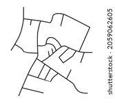 road network image map design... | Shutterstock .eps vector #2059062605
