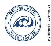water design over white... | Shutterstock .eps vector #205908715