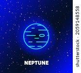 neptune planet neon icon design.... | Shutterstock .eps vector #2059148558