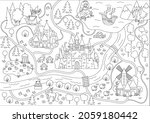 fairytale black and white... | Shutterstock .eps vector #2059180442