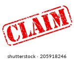 claim red stamp text on white | Shutterstock .eps vector #205918246
