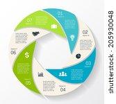 modern vector info graphic for...   Shutterstock .eps vector #205930048