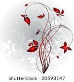 floral frame | Shutterstock .eps vector #20593147