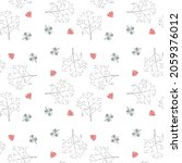 vector seamless pattern with... | Shutterstock .eps vector #2059376012