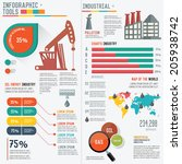 oil industry infographic... | Shutterstock .eps vector #205938742