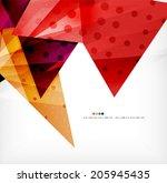modern 3d glossy overlapping... | Shutterstock .eps vector #205945435