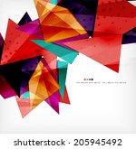 modern 3d glossy overlapping... | Shutterstock .eps vector #205945492