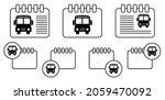 school bus vector icon in...