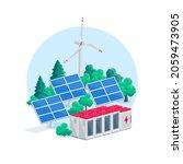 renewable energy electric power ... | Shutterstock .eps vector #2059473905