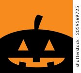 pumpkin. black silhouette....   Shutterstock . vector #2059569725