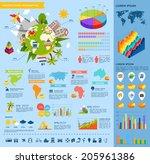 modern travel infographic set... | Shutterstock .eps vector #205961386