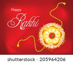 abstract raksha bandhan... | Shutterstock .eps vector #205964206