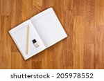 blank notepad with office... | Shutterstock . vector #205978552