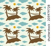 seamless pattern with... | Shutterstock . vector #205979728