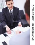 business people sitting and... | Shutterstock . vector #205984672