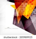 modern 3d glossy overlapping... | Shutterstock . vector #205989925