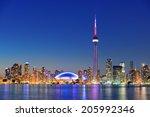 Toronto Sunset Over Lake...