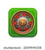 casino roulette game wheel icon....