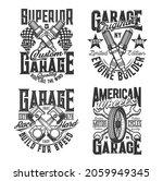 crossed engine pistons  spark... | Shutterstock .eps vector #2059949345
