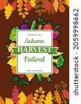 autumn harvest festival poster  ... | Shutterstock .eps vector #2059998662