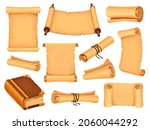 cartoon parchment paper and... | Shutterstock .eps vector #2060044292