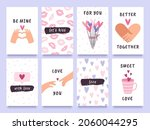 valentines day cards and prints ... | Shutterstock .eps vector #2060044295
