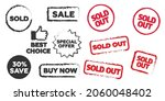 sold out stamps grunge texture. ... | Shutterstock .eps vector #2060048402