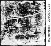 grunge background is monochrome ... | Shutterstock .eps vector #2060077238