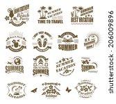 set of summer design elements... | Shutterstock .eps vector #206009896