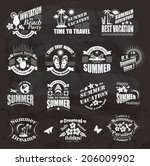 set of summer design elements... | Shutterstock .eps vector #206009902