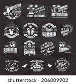set of summer design elements... | Shutterstock .eps vector #206009902