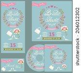 the  bridal shower design... | Shutterstock .eps vector #206012302