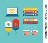 travel infographic element | Shutterstock .eps vector #206019208