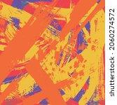 yellow orange grunge background.... | Shutterstock .eps vector #2060274572