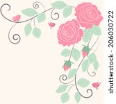 decorative floral border... | Shutterstock .eps vector #206030722