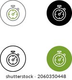 timer line icon. stopwatch...